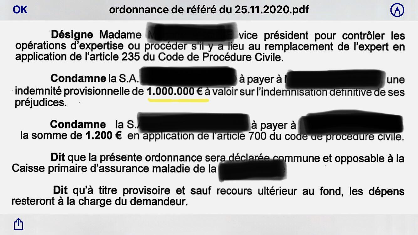 2.000.000 € de provisions pour des accidentés de la route